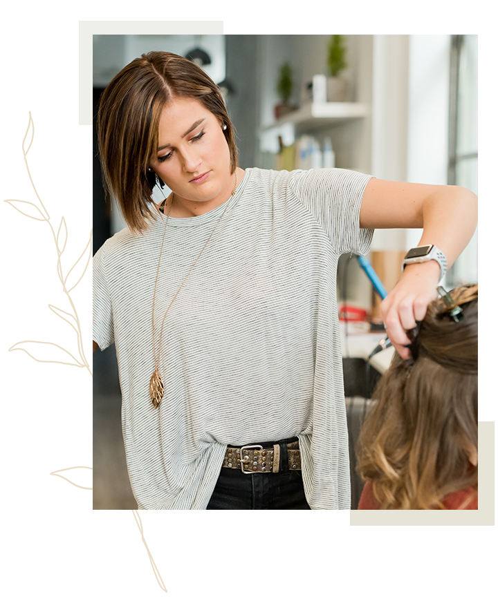 Interaction between client and luxury hair stylist